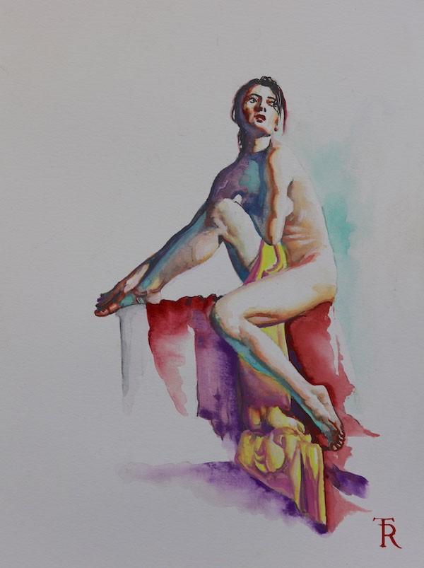"""Watercolor Study #0498"" Original Watercolor on Paper by Tomasz Rut"