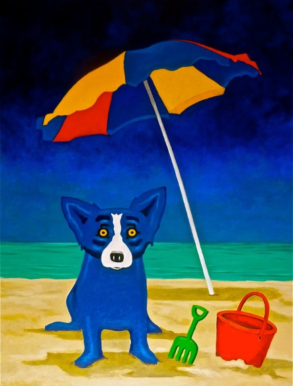 """""""Looking For A Beach House"""" Lithograph by George """"Blue Dog"""" Rodrigue"""