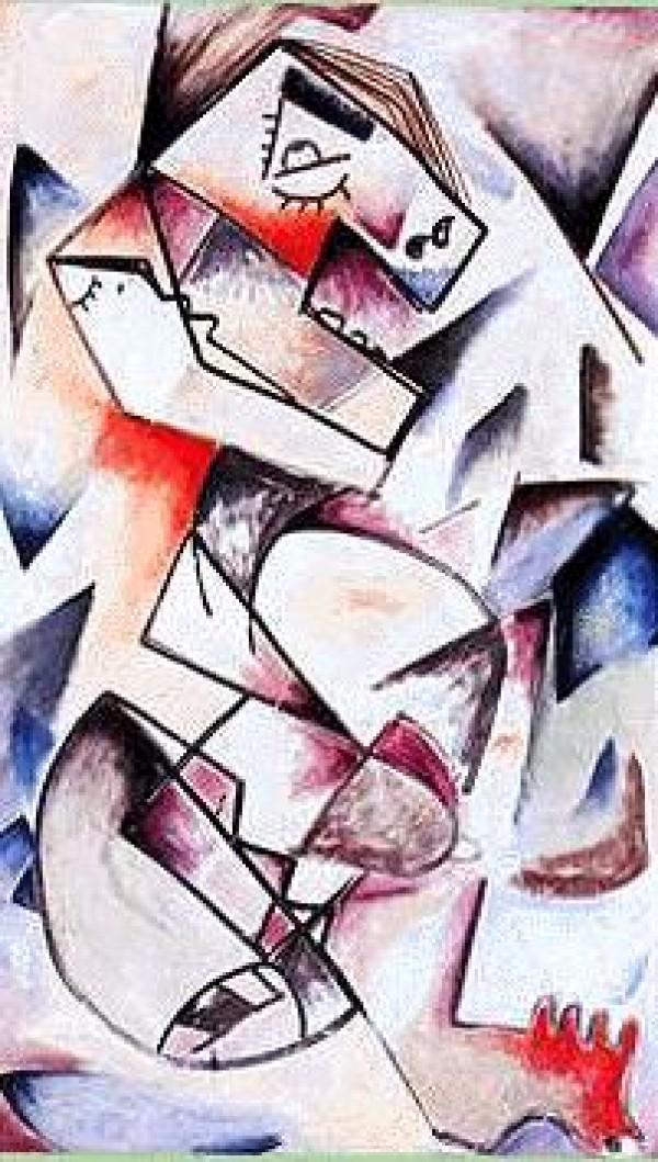 """Geometric Look"" Original Acrylic/Canvas by Alexandra Nechita"