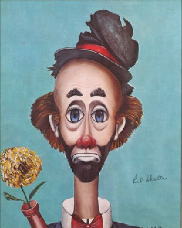"""Flower Power"" Open Edition Lithograph by Red Skelton"