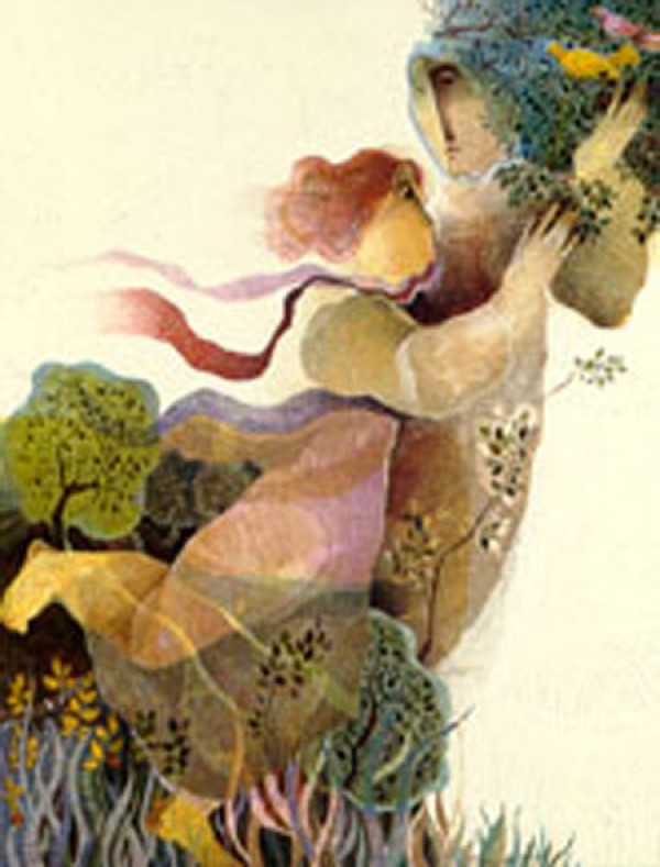 """""""Untitled"""" Embossed Lithograph from the Alvar Sunol Suite Mytholoques"""