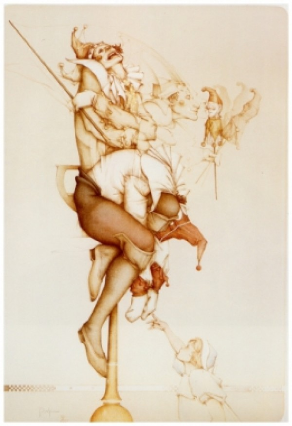"""Petrouchka '87"" Hand-Pulled Stone Lithograph by Michael Parkes"