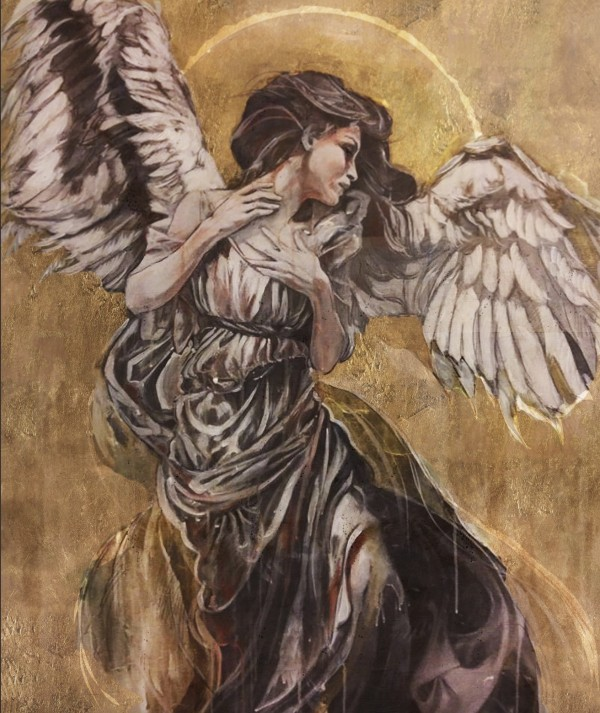 """Angel II"" Open Edition Giclee on Canvas by Marta C Wiley"