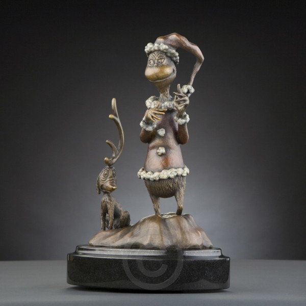 The Grinch Maquette Bronze Sculpture by Dr. Seuss